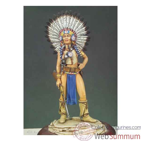 Figurine - Kit a peindre Guerrier sioux - G-017