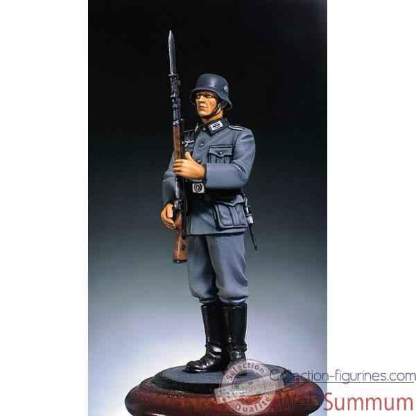 Seconde guerre mondiale, figurine - kit à peindre soldat allemand en