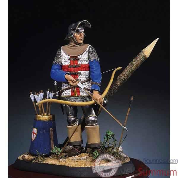figurine kit peindre archer anglais en 1475 s8 f9. Black Bedroom Furniture Sets. Home Design Ideas