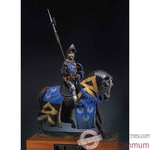 Figurine - Kit a peindre Chevalier a cheval en 1400 - S8-F27