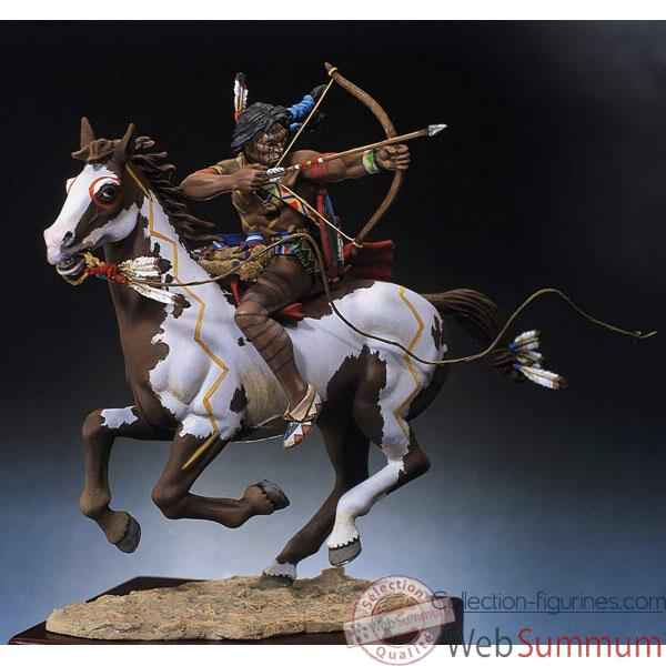 Figurine - Kit a peindre Guerrier sioux tirant a l\'arc - S4-F3