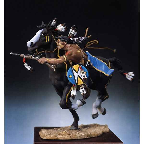 Video Figurine - Kit a peindre Guerrier sioux tirant a la carabine - S4-F4