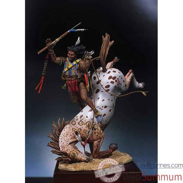 Video Figurine - Kit a peindre Guerrier sioux desarconne - S4-F5