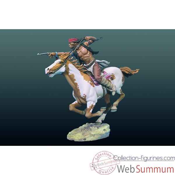 Figurine - Kit a peindre Apache a cheval - S4-F33