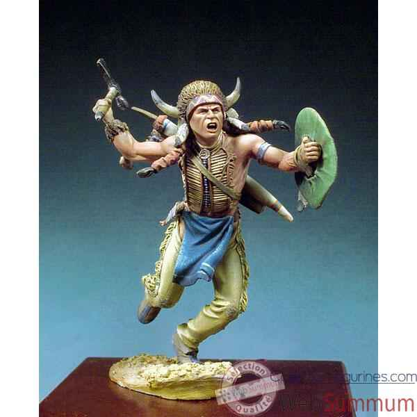 Figurine - Kit a peindre Guerrier sioux  1860 - S4-F34