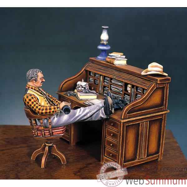 figurine kit peindre le bureau du sh rif en 1880 s4 s2 de figurine andrea. Black Bedroom Furniture Sets. Home Design Ideas