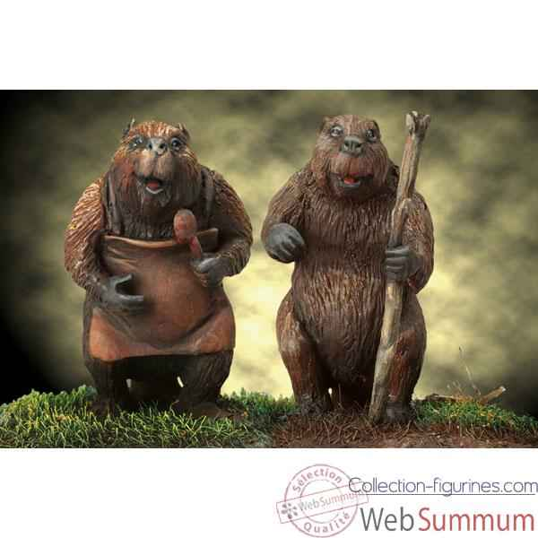 Figurine - Mr. and Mrs. Beaver - NARNIA-06