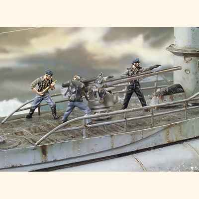 Video Figurine - Canonniers de sous-marin allemand, Seconde Guerre mondiale - S12-S02