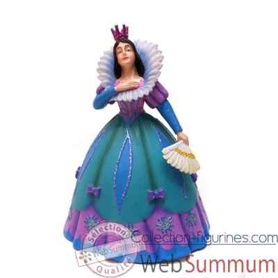 Figurine la princesse a l'eventail robe bleue -61360