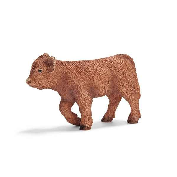 figurine schleich animaux de la ferme veau highland 13660 de figurine schleich. Black Bedroom Furniture Sets. Home Design Ideas