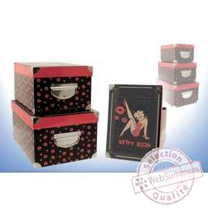 Set 3 boites rectangle betty boop 8565012