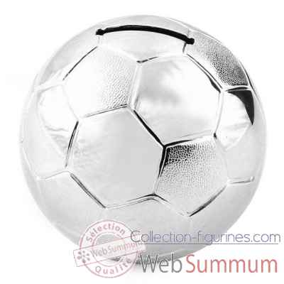 Tirelire argent ballon foot h.8 016303