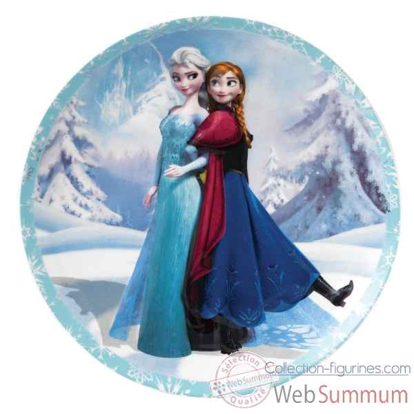 Anna et elsa assiette murale Figurines Disney Collection -A27554