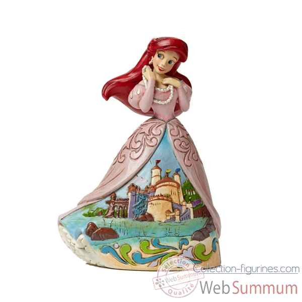 Statuette Ariel en robe chateau Figurines Disney Collection -4045241