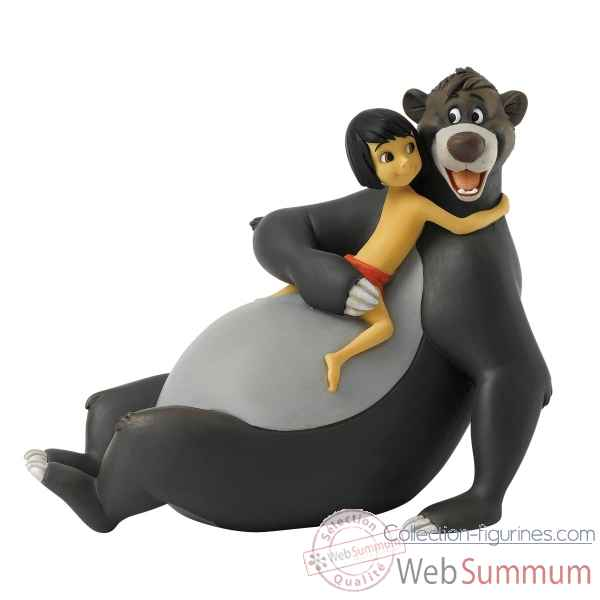Statuette Bare necessities mowgli et baloo Figurines Disney Collection -A27148