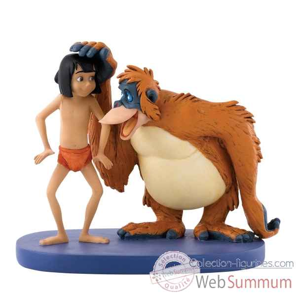Statuette Be like you mowgli & louie Figurines Disney Collection -A27146