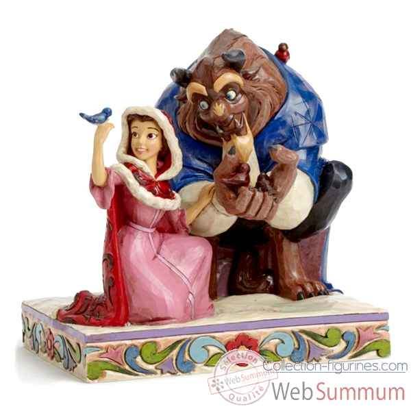 Belle and beast winter Figurines Disney Collection -4039075
