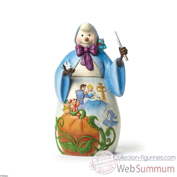Statuette Bonhomme de neige et cendrillon Figurines Disney Collection -4046022