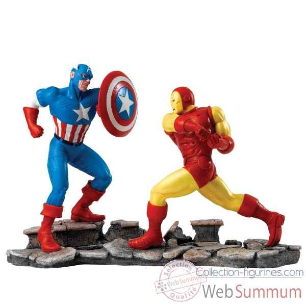 Statuette Captain america vs iron man Figurines Disney Collection -A27605