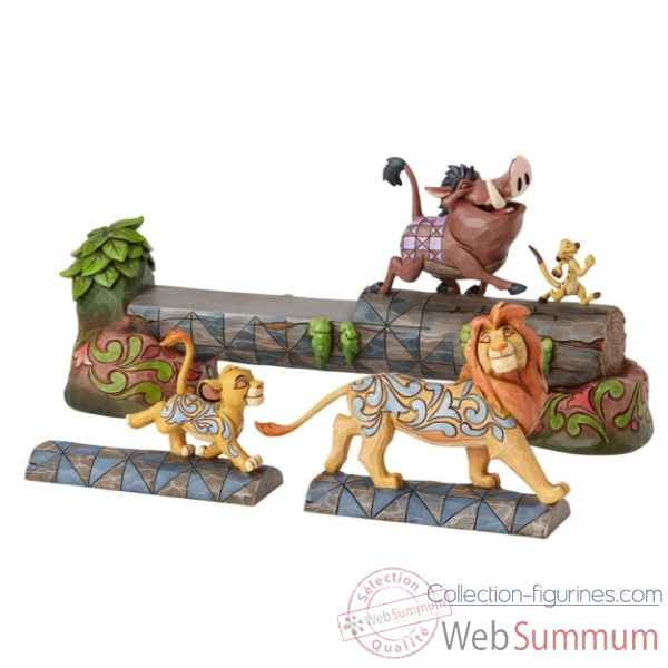 Statuette Carefree camaraderie simba, timon et pumbaa Figurines Disney Collection -4057955