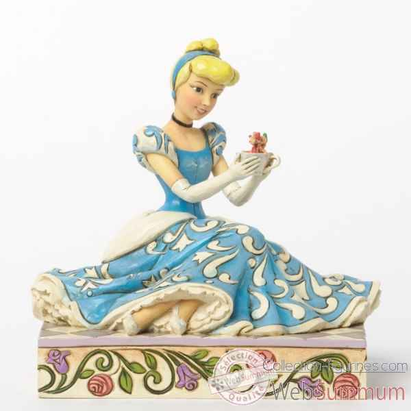 Caring & courageous cinderella with jaq & gus Figurines Disney Collection -4037511