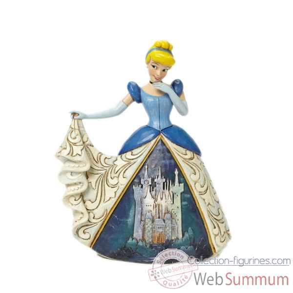 Statuette Cendrillon en robe chateau Figurines Disney Collection -4045239