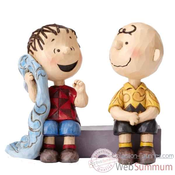 Statuette Charlie brown et linus sur le trottoir Figurines Disney Collection -4054081