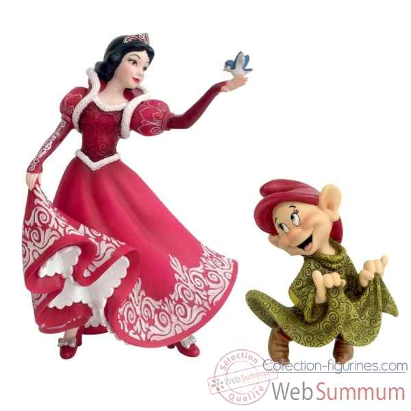 Statuette Christmas blanche neige et simplet Figurines Disney Collection -4058287
