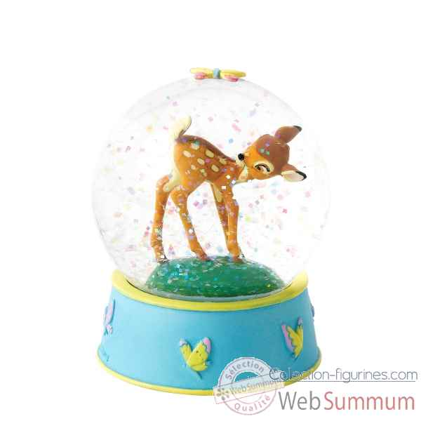 Curious et playful boule a neige bambi Figurines Disney Collection -A27026