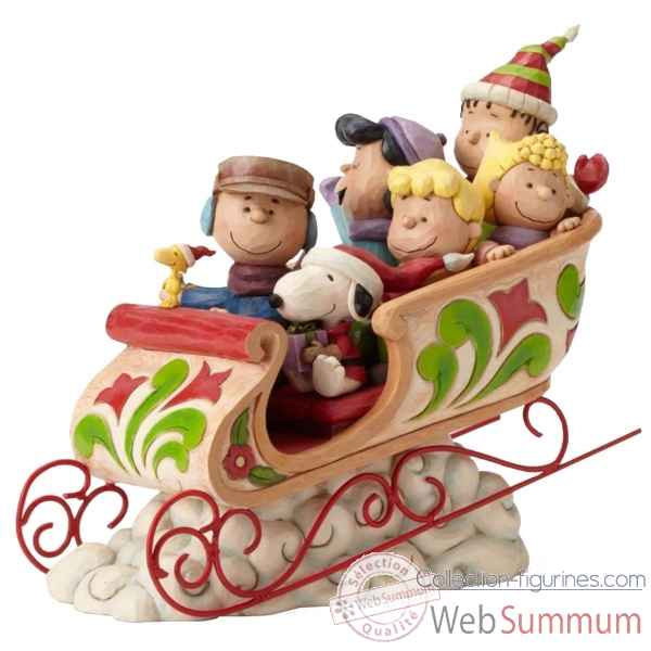 Statuette Dashing through the snow ( charlie brown & snoopy gang) Figurines Disney Collection -4052722