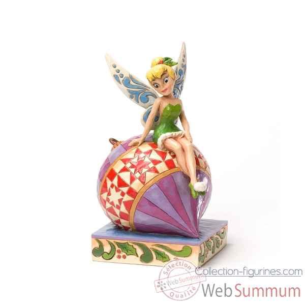 F e clochette sur boule de noel dans princesses disney - Fee clochette assise ...