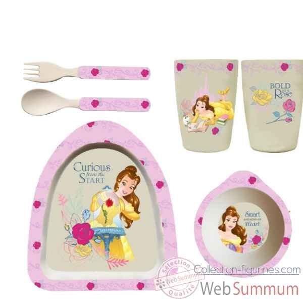 Figurine belle organic dinner set collection disney enchante -A28948