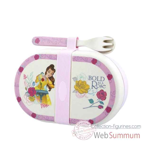 Figurine belle organic snack box with cutlery set collection disney enchante -A28940