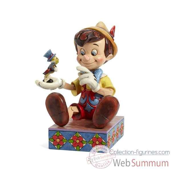 Figurine pinocchio and jiminy cricket f collection disney trad -4043647