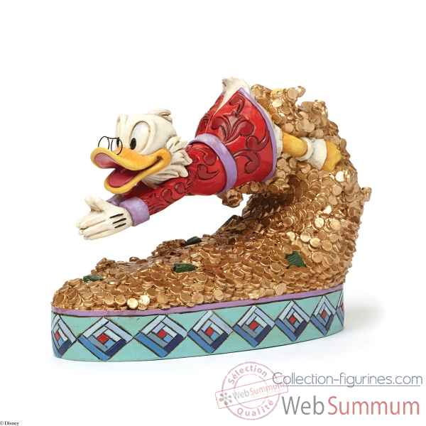 Figurine scrooge mc duck treasure dive collection disney trad -4046055