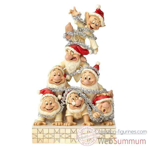 Figurine seven dwarfs white wonderland stacked collection disney trad -6000942