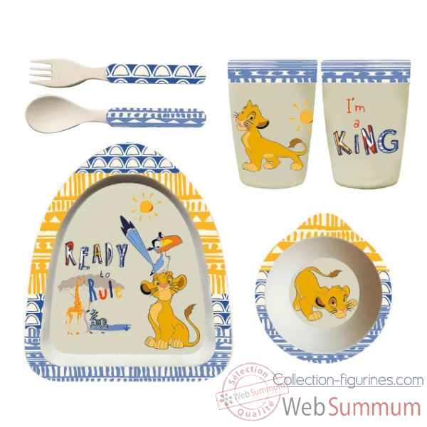 Figurine simba organic dinner set collection disney enchante -A28755