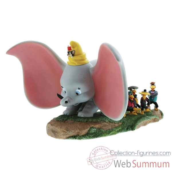 Figurine take flight-dumbo, timothy,jim crow and brothers collection disney enchante -A28729