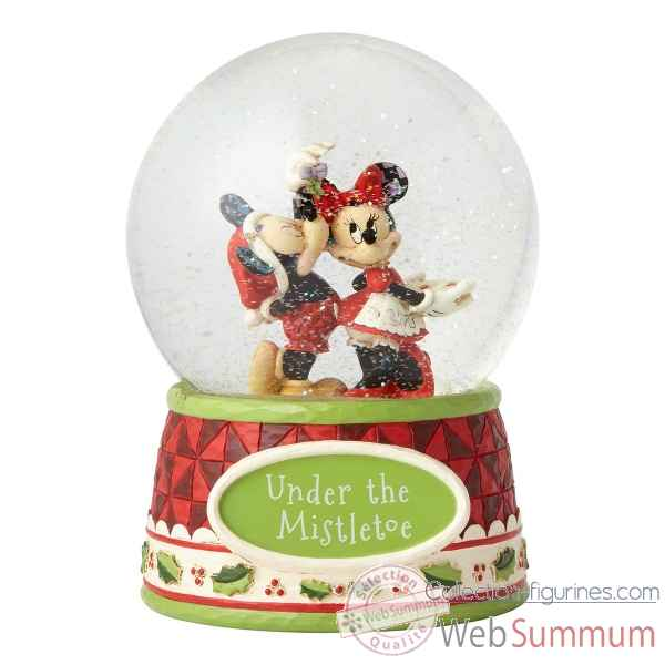 Figurine under the mistletoe (mickey mouse & minnie mouse waterball) collection disney trad -4060275