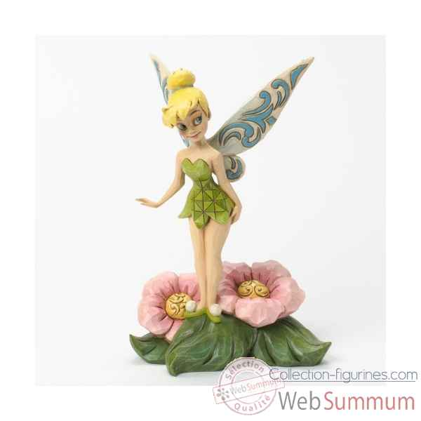Flower fairy fee clochette standing on flower Figurines Disney Collection -4037505