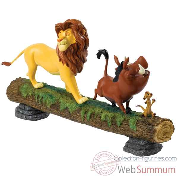 Statuette Hakuna matata simba, timon et pumbaa Figurines Disney Collection -A27708