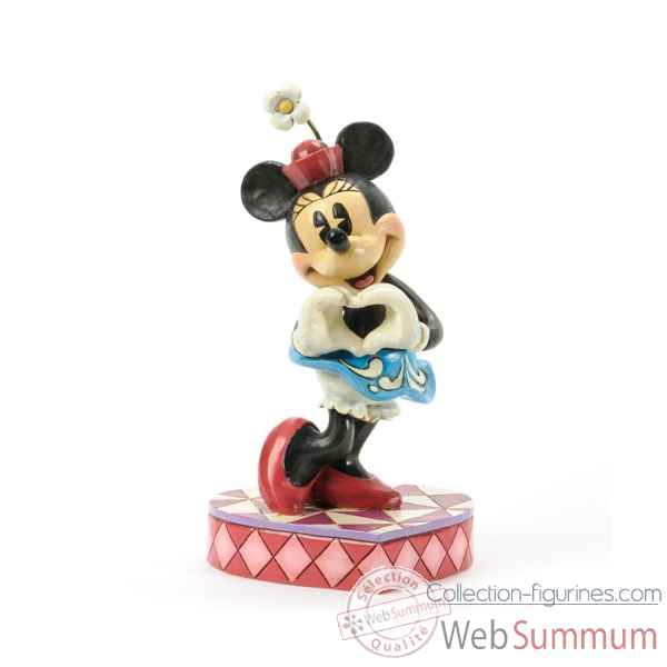 I heart you minnie mouse Figurines Disney Collection -4037519