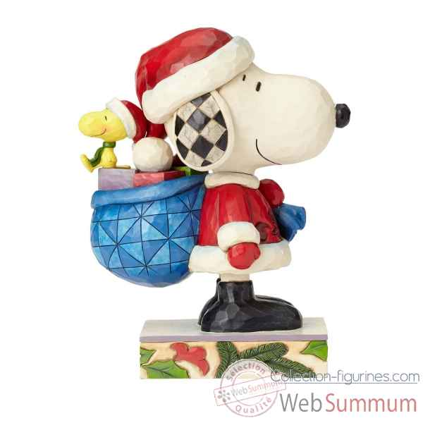 Statuette Here comes snoopy claus-snoopy et woodstock Figurines Disney Collection -4057672
