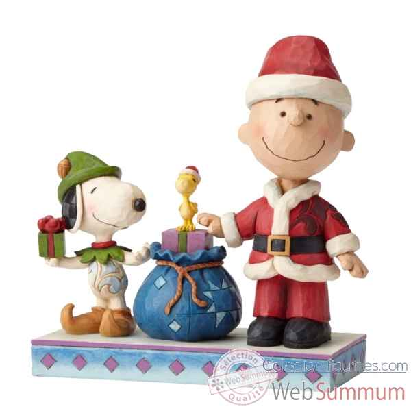Statuette Holiday helpers ( charlie brown & snoopy) Figurines Disney Collection -4052721