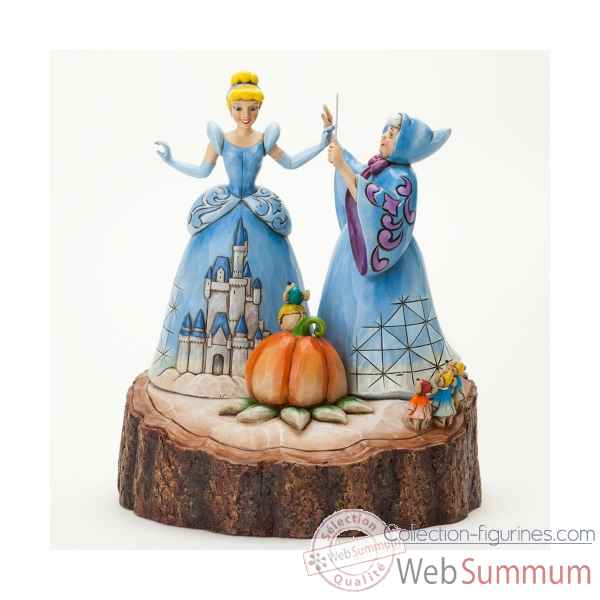 Magical transformation carved by heart cinderella n Figurines Disney Collection -4037503