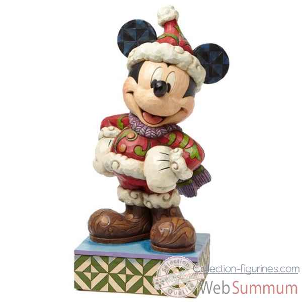 Merry christmas large mickey mouse Figurines Disney Collection -4039042