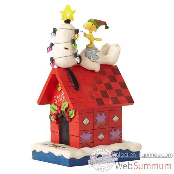 Statuette Merry et bright - snoopy et woodstock Figurines Disney Collection -4052719