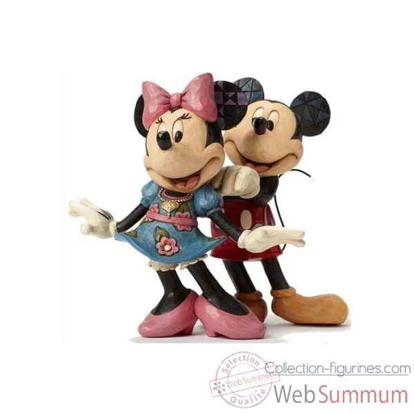 Statuette Mickey et minnie mouse for my sweet heart Figurines Disney Collection -4046042