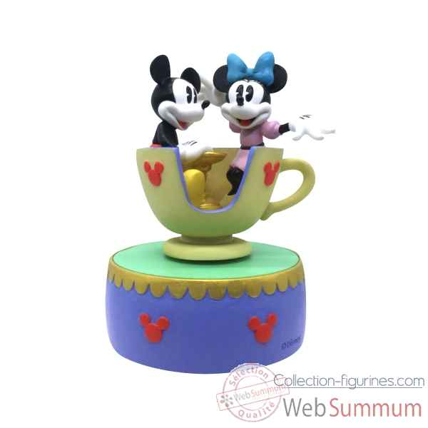 Statuette Mickey et minnie mouse teacup musical Figurines Disney Collection -A28350