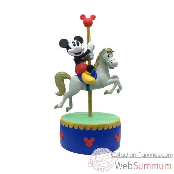 Statuette Mickey mouse carousel musical Figurines Disney Collection -A28074